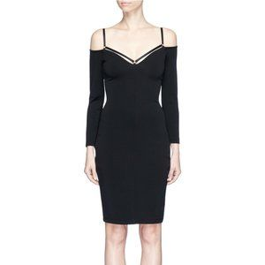 Alexander Wang Stretch Faille Strappy Dress Black
